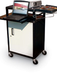 Presentation Cart with Locking Cabinet