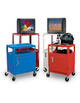 Metal AV Cart with Cabinet