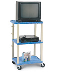 Solid Plastic Bright Color AV Cart
